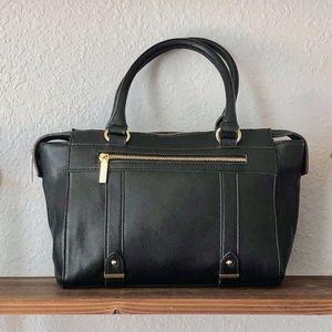 Anne Kline black handbag with gold detail